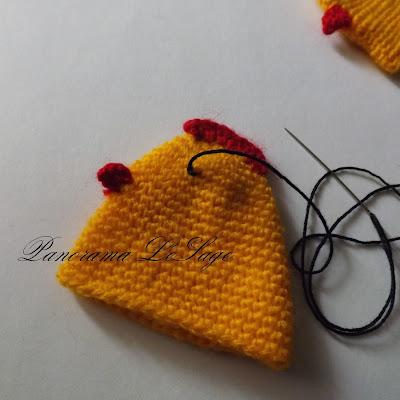 Instrukcja wykonania kurczaczka wielkanocnego szydełkowego ozdoby szydełkowe świąteczne jak zrobić opis wykonania ozdób szydełkowych wielkanoc Panorama LeSage