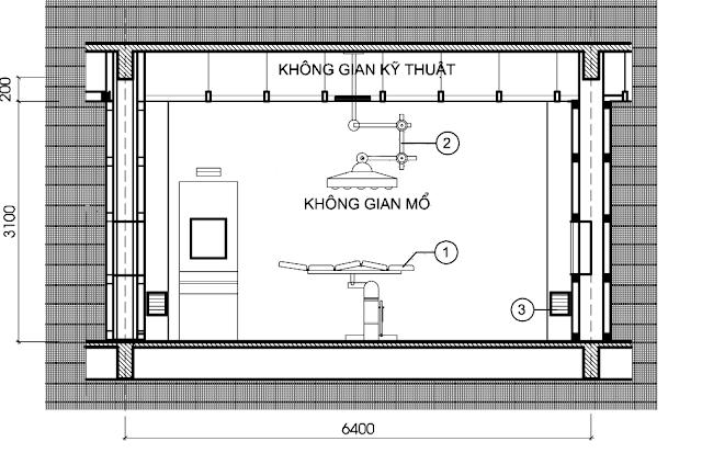 Mẫu thiết kế phòng mổ bệnh viện.