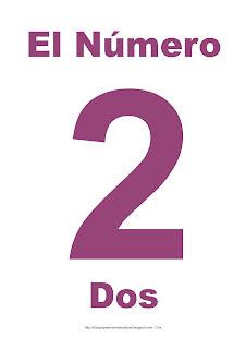 Lámina para imprimir el número dos en color morado