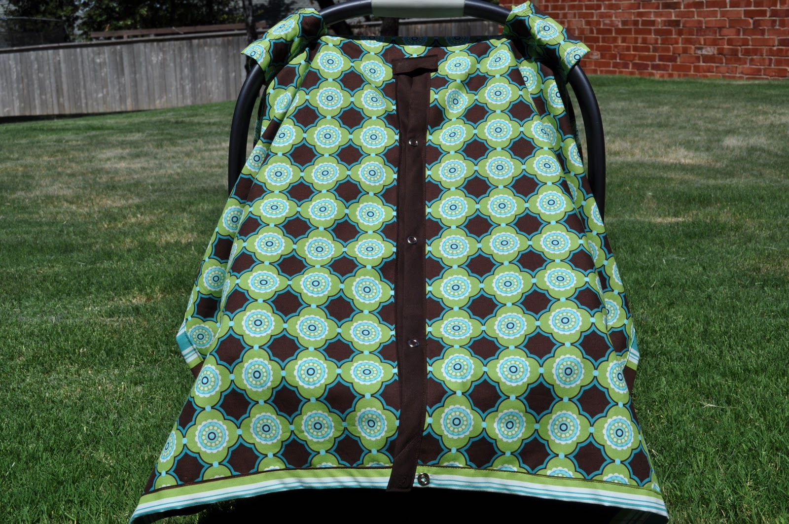 Elastic to the back to keep it from blowing up and wind from getting to her precious little cheeks. & Kalicocrafts: Paparazzi Shade (Car Seat Canopy Cover)