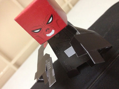 Red Skull Paper TOy