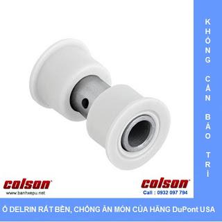 Ổ lăn nhựa Delrin Bánh xe inox 304 bánh xe Nylon chịu tải trọng (100~136kg)