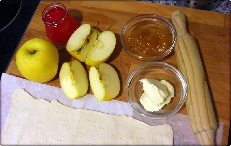 Ingredientes para pastel de manzana