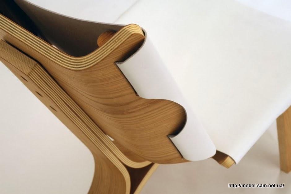 Крепление ткани к спинке кресла