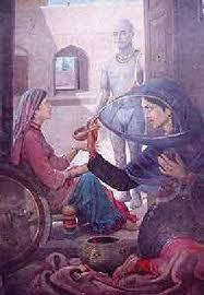 Heer Ranjha Portrait By Sobha Singh