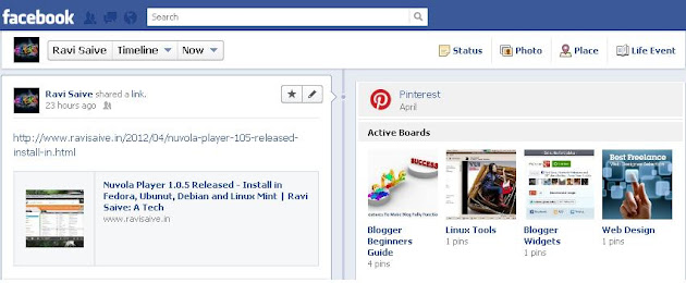 Linking Pinterest with Facebook