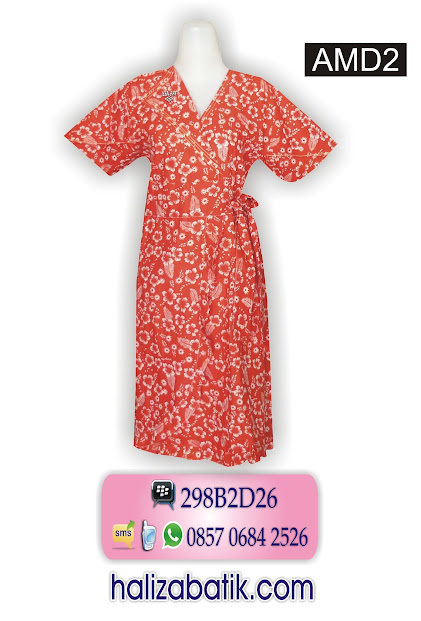 grosir batik pekalongan, model baju batik dress, baju dress, dress batik