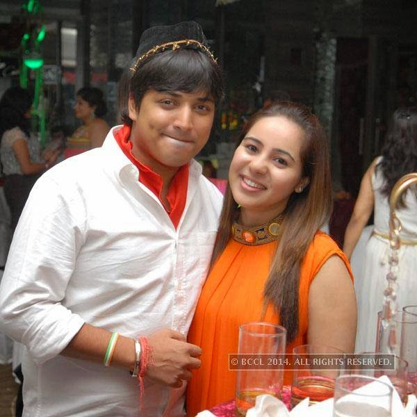 Shravan and Jia Mohta during Shravan Kukerja's birthday party, in Nagpur.