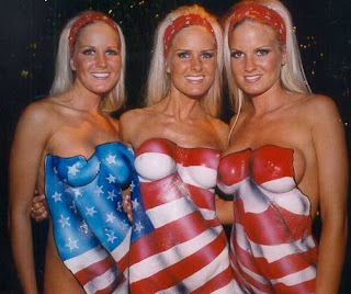 American Flag Body Art and Painting pictures