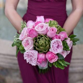 Hồng Carey kết làm hoa cưới thật đẹp