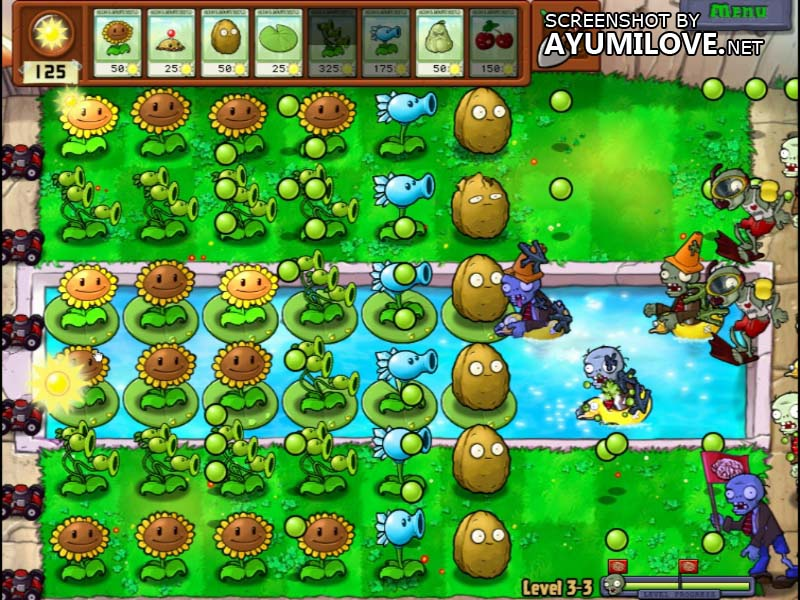 Plants vs Zombies Stage 3-3 Layout