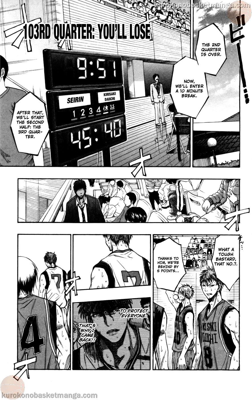 Kuroko no Basket Manga Chapter 103 - Image 01