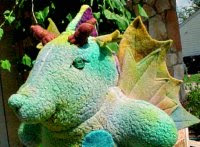 "Clarence - 18"" Hand dyed Waldorf Rainbow Dragon"