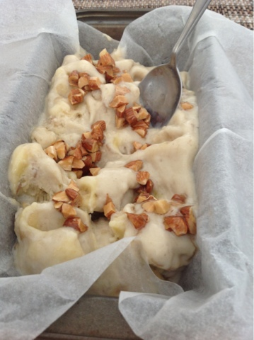 Banana and Almond ice cream recipe - 06