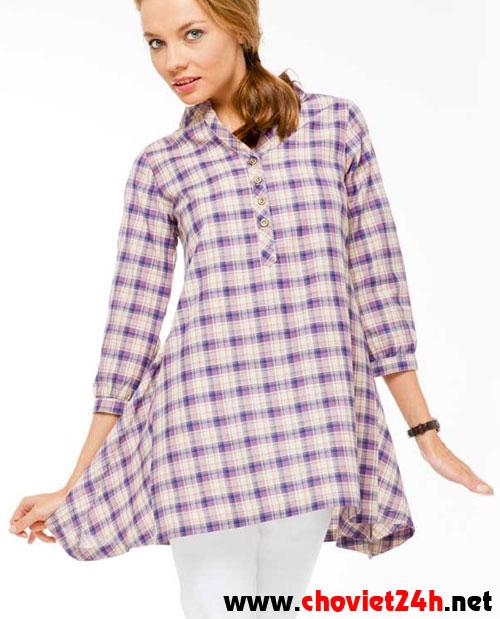 Áo dáng dài Sophie Paris Verica Purple