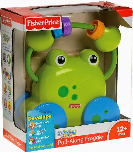 Xe kéo Ếch Cốm Pull Along Froggie Fisher Price tuyệt đối an toàn
