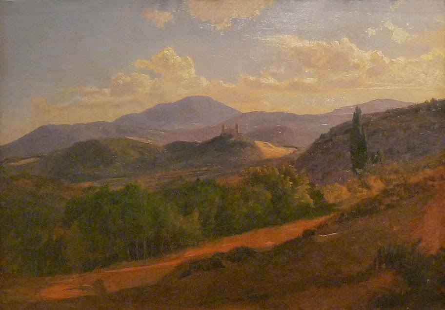 Johann Wilhelm Schirmer - Partie des Vosges avec le Spesbourg, 1862