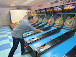 Larry reawakens his skeeball addiction