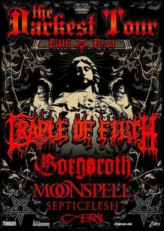 Cradle Of Filth / God Seed / Moonspell / Septicflesh / Asrai @ Le Bataclan, Paris 02/12/2008