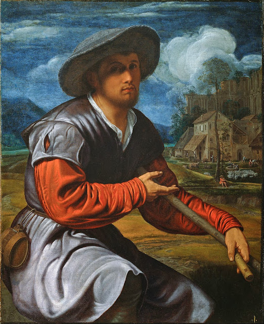 Giovanni Gerolamo Savoldo - Shepherd with a Flute - Google Art Project