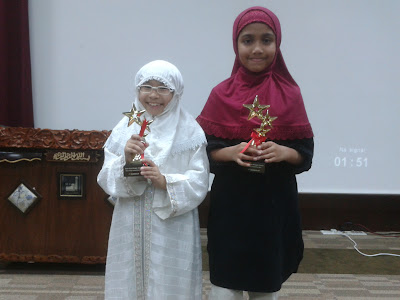 Children's Day 1st Runner up Sarah Thauhed (4B2) SWMC and Shareefa Ameerah (6A1)
