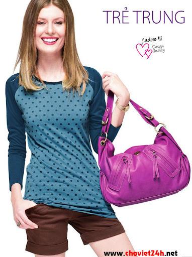Túi xách nữ Sophie Chevaleret Purple - LL426TP