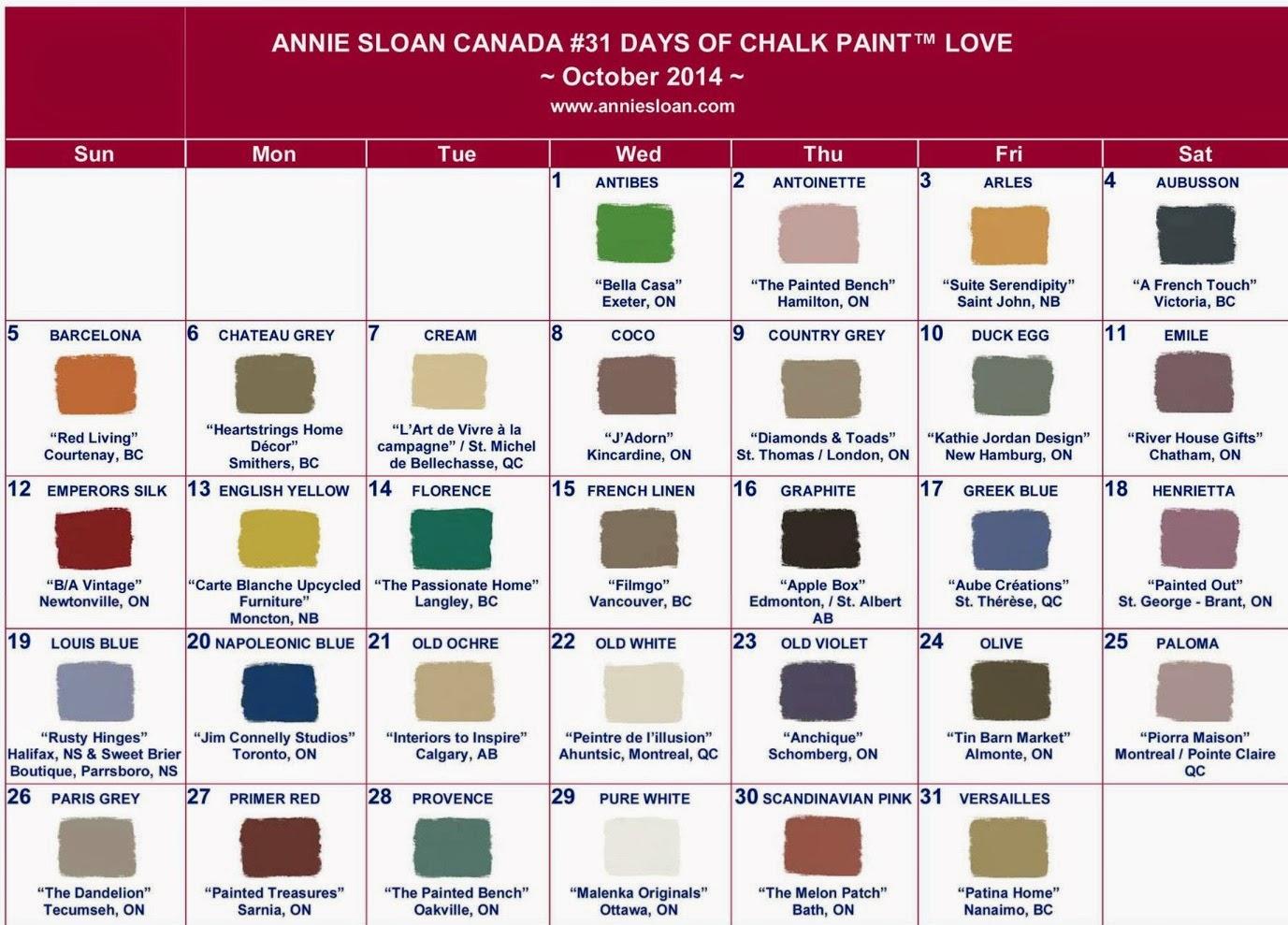 Annie Sloan Chalk Paint Canada Colour
