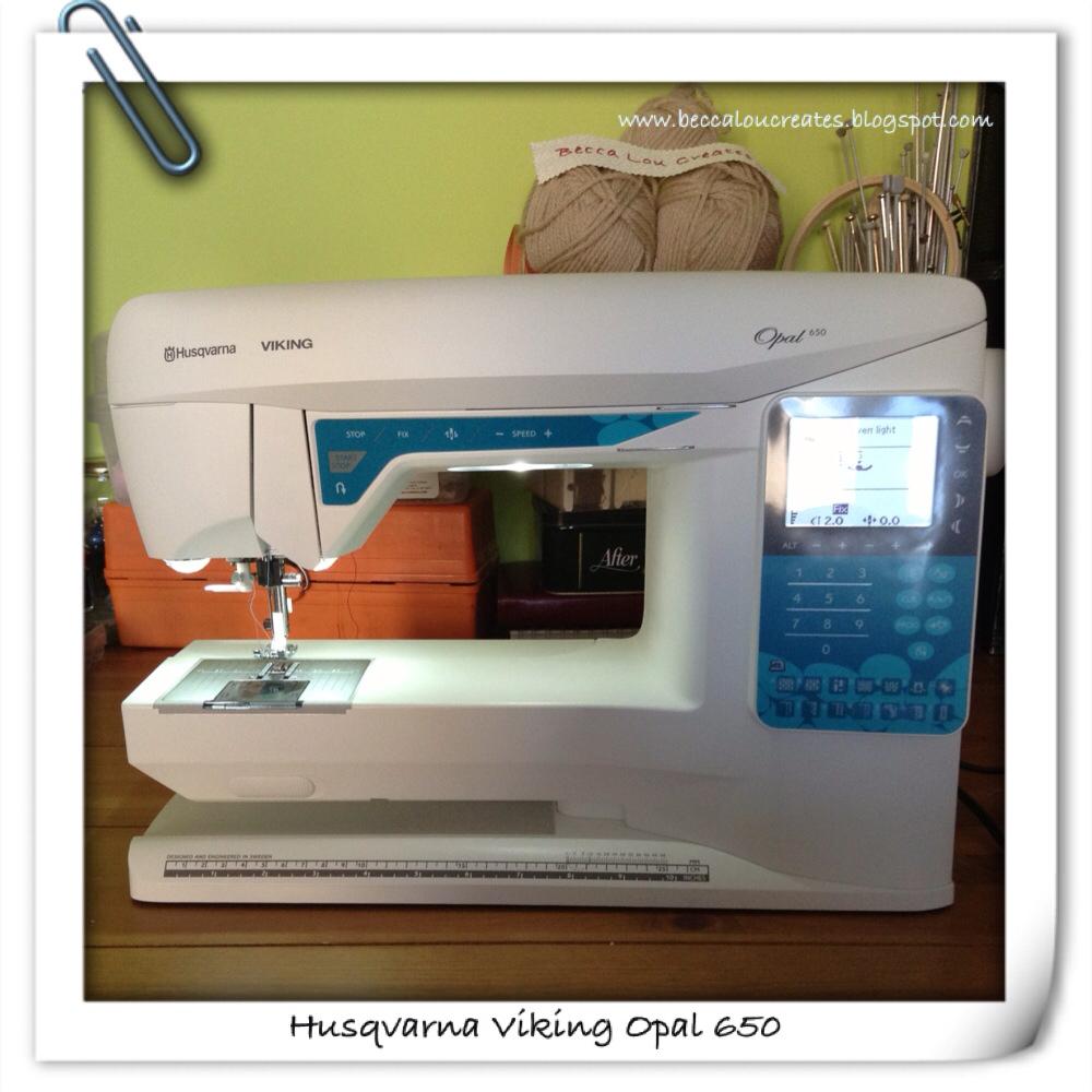 Here it is - my new Husqvarna Viking Opal 650