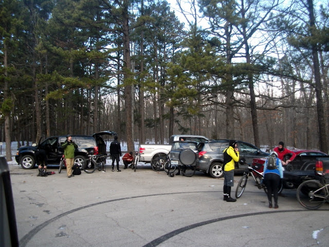 Parking lot at Berryman Campground