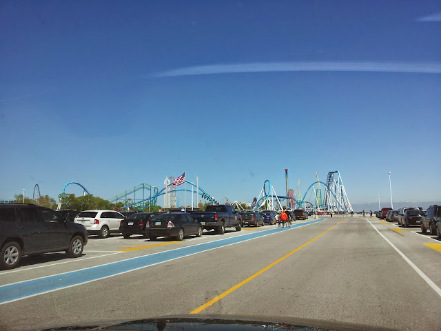 The first parking lot at Cedar Point. From The Complete Guide to Visiting Cedar Point