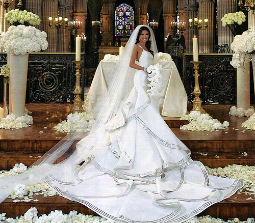 Eva Longoria Wedding Dress