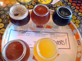 Saraveza's Flight of Five Chili and Smoked Beers for Fire & Brimstone 2012
