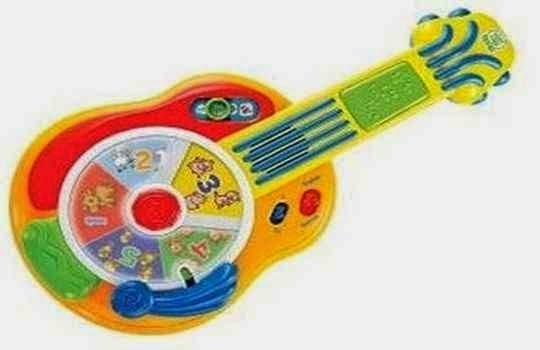 Guitarra de jugete con sonidos incorporado