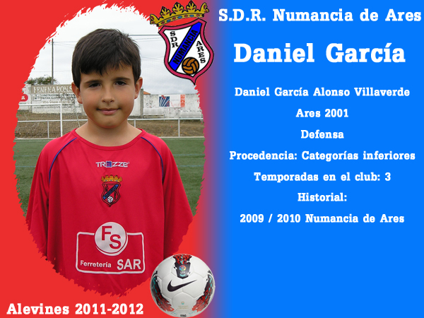 ADR Numancia de Ares. Alevíns 2011-2012. DANIEL GARCIA.