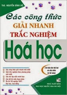 Các công thức giải nhanh trắc nghiệm Hóa học - Nguyễn Đình Độ