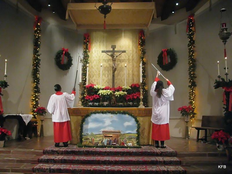 Lighting the candles on Christmas Eve