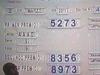 SORTEO DE ORO DOMINICAL DE LA LOTERIA NACIONAL DE PANAMA DEL 20/3/11