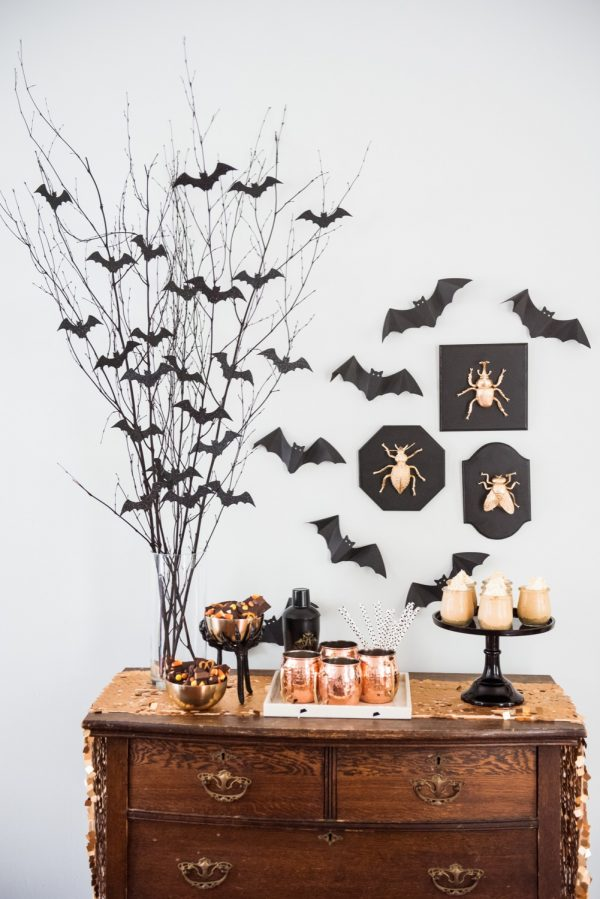 Bat Centerpiece: These 30 DIY Halloween Decorations That Are Wickedly Creative will save you money and allow your creativity to flourish