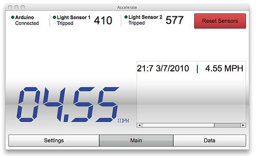 Speedometer Display Using FLASH