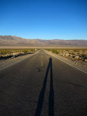 Empty Road In Death Valley