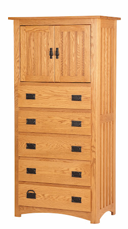 70 x 34 Mission Armoire Dresser in Cinnamon Oak