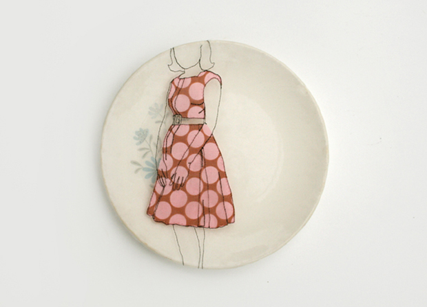 Embroidered Porcelain by Diem Chau