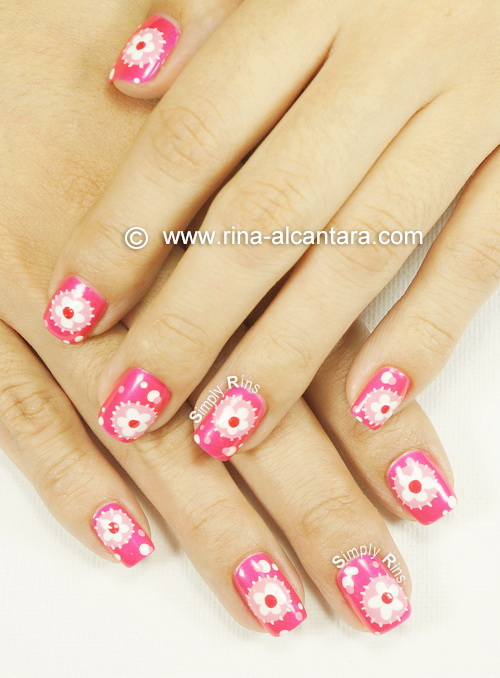 Flower Patches Nail Art by Simply Rins