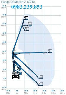 Xe nâng người khơp gập Genie Z-62/40