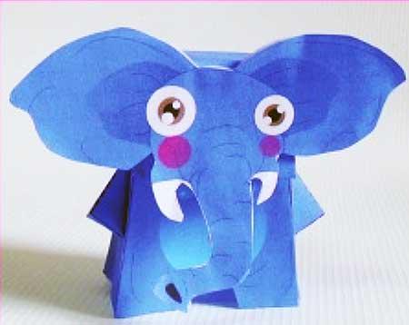 Elephant Paper Toy