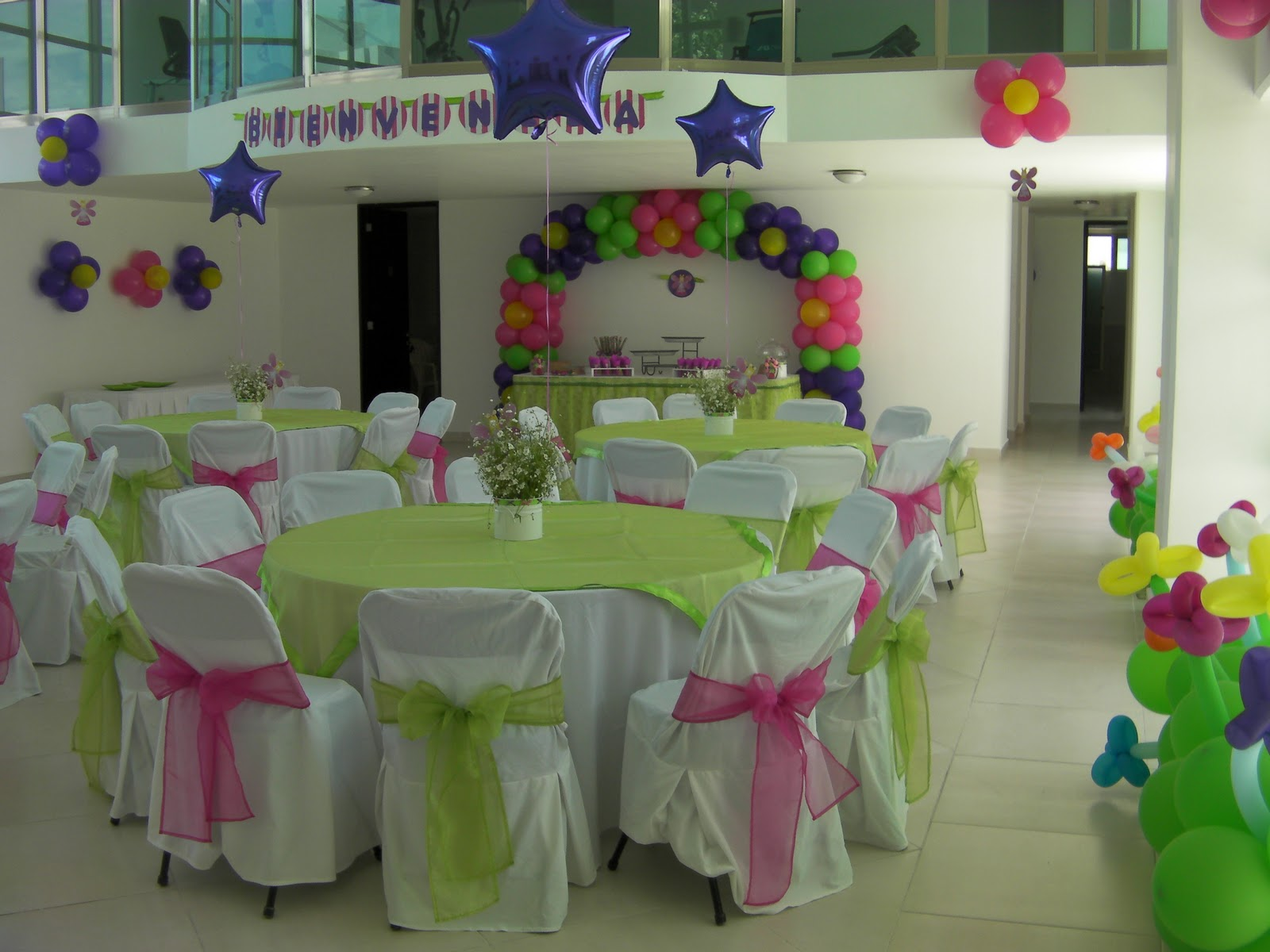 Party boutique canc n baby shower con el tema de hadas - Decoracion para salones de casa ...