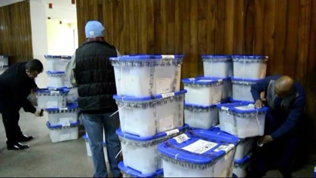 Papeletas electorales llegan al departamento de San Marcos