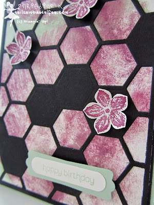 stampin up, hexagon hive, thinlit, bienenstock, petite petals, wishes your way