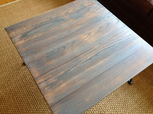 Wrought Iron Gray Driftwood Coffee Table Wild Sparrow