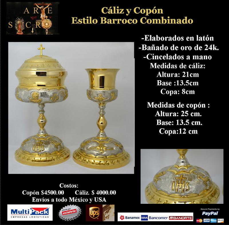 Caliz y cop n barrocos ba ados en oro 4800 0 la sacristia - Limpiar laton dorado ...